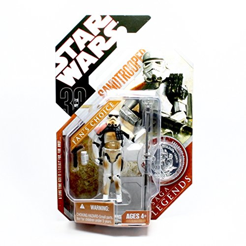 SANDTROOPER (DIRTY ARMOR / ORANGE PAULDRON VARIATION) * A New Hope * Star Wars 30th Anniversary Series 2007 Action Figure & Exclusive Collector Coin ()