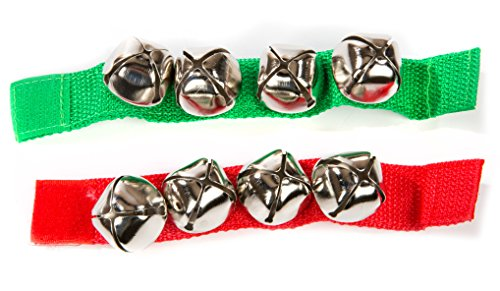 Jingle Bell Bracelet Assorted Colors Green or RED 1