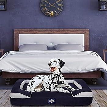 Amazon Com Sealy Dog Bed Cushy Cuddler Crushed Memory