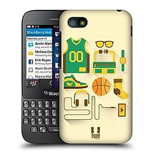 Head Case Designs Baloncesto Paquete De Inicio Caso Duro Trasero para BlackBerry Q5