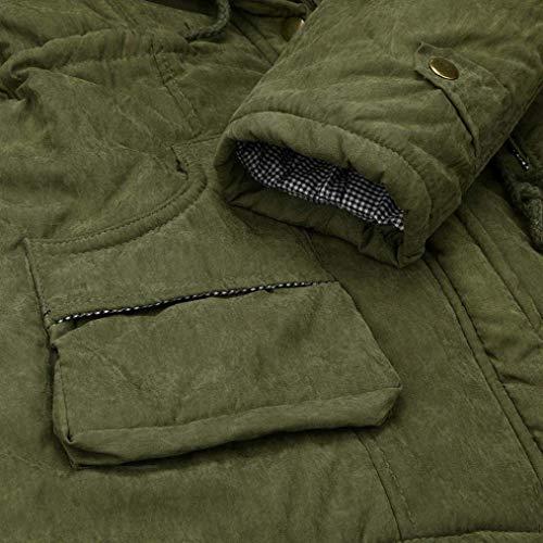 Taille Intérieur Veste Outwear Femmes Xxx Velours Capuche Long Parka D'hiver En Fourrure Avec Chaude Manteau Pour Verte À large Noir Armée Slim Zipper coloré xwCPnqa4WR