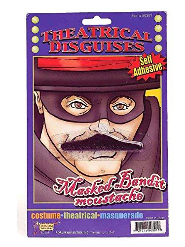 [Masked Bandit Moustache] (Masked Bandit Costume)
