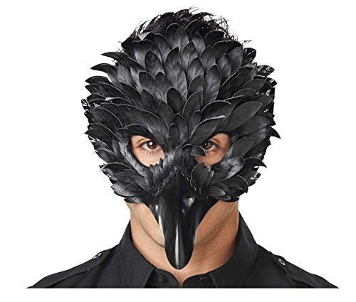 Black Feather Mask (Seasons Crow Feather Masquerade Mask)