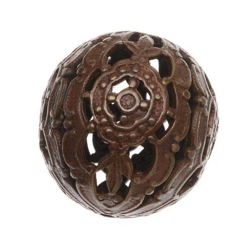 Vintaj Natural Brass Ornate Round Filigree Focal Bead Wrap 20mm (1) (Brass Filigree Wrap)
