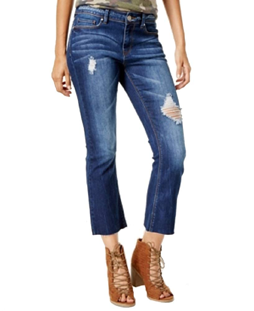 Indigo Rein Juniors Ripped Cropped Flare Jeans