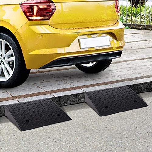 段差 スロープ プレート 車の縁石ランプラバーロード-頑丈な敷居橋の線路、ドックの私道車両を積み込むためのキャンピングカーの分離