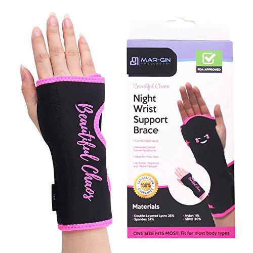 Wrist Brace Carpal Tunnel - Night Wrist Sleep Splint Hand Brace Relieve Pain Light Weight Adjustable Breathable Fits Left or Right Hand Daytime & Nightime