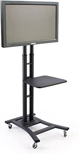 Tyke Supply LLC Mobile Commercial TV Cart hold s LCD or Plasma TV s up to 80 inch and 110 lbs