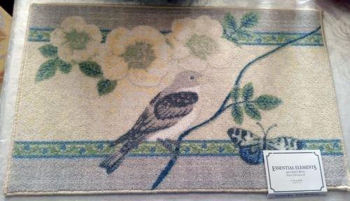 Pecan Accent - The Pecan Man BIRD & BUTTERFLIES, ACCENT RUG (non skid latex back) ,1Piece 17