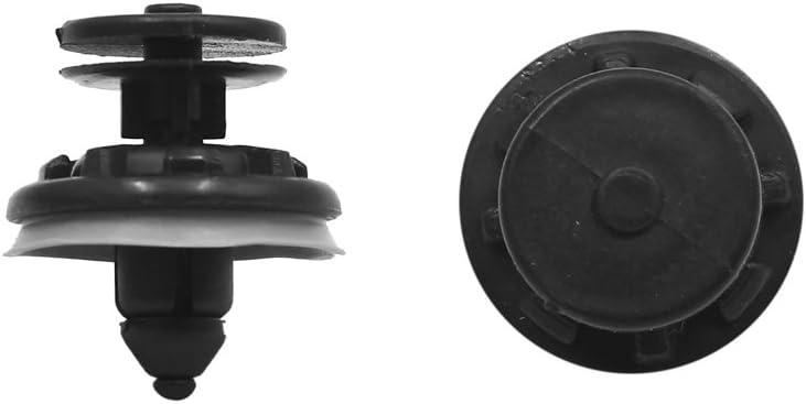 50 Pcs Black Plastic Rivet Trim Retainer Clips 8mm x 17mm x 27mm for Toyota
