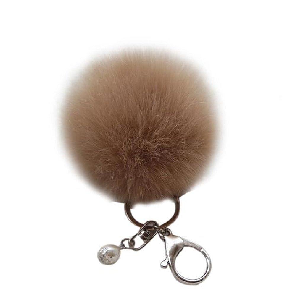 Tenworld Faux Rabbit Fur Ball Keychain Pom Pom Key Ring Handbag Charm Tenworld-D352