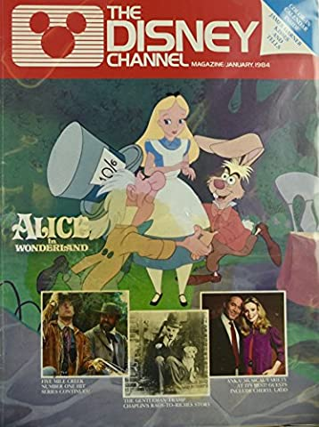 1984 - January - The Disney Channel - Alice In Wonderland Cover