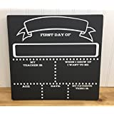 WoodenSign Personalized First Day of School Chalkboard First Day of School Chalkboard Last Day of School Chalkboard 11.25 x 12 inches