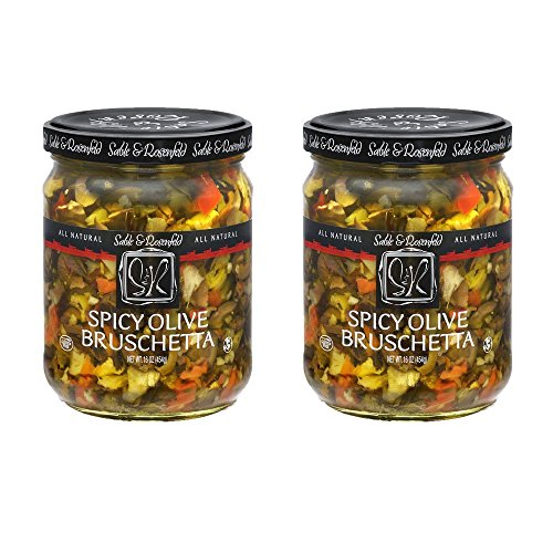 (Sable & Rosenfeld Olive Bruschetta - Earth Kosher - Spicy Olive Bruschetta - 2 Pack (16 oz each))