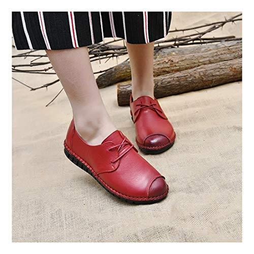 Blando Gules Superficial Wulifang Ballet Plano Gamuza Negro Joker 35 Zapatos Puntiagudo Pie Comfort Fondo Planos wq0AZCq6