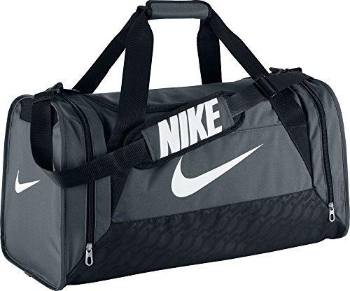 Nike Brasilia 6 Duffel Medium Flint Grey/Black/White Size Medium