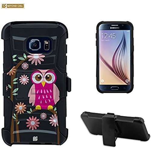 Galaxy S7 Edge Case, S7 Edge Case, Beyond Cell Durable High Impact Hard+Soft Hybrid Rugged Case Built in Kickstand Belt Clip Holster- Daisy Owl Sales