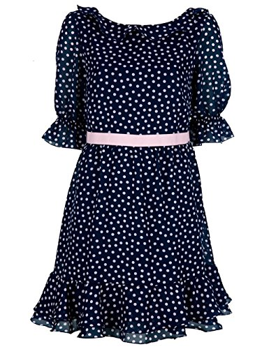 Used, RED Valentino Polka Dot Dress Navy Blue Pink Size 4 for sale  Delivered anywhere in USA