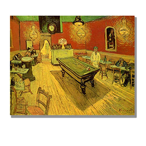 Arles Vincent Van - Eliteart- The Night Cafe in The Place Lamartine in Arles by Vincent Van Gogh Oil Painting Reproduction Giclee Wall Art Canvas Prints