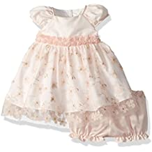 Laura Ashley London Baby Girls Embroidered Puff Sleeve Party Dress