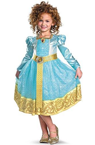 Brave Merida Deluxe Costume, Auqa/Gold, X-Small ()