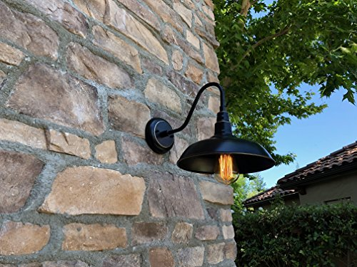 AA Warehousing EL0523IB Lora 1 Outdoor Wall-Lighting, Imperial Black with Gold/Brass Trim - Voltage:100 This light fixture is dimmable. - patio, outdoor-lights, outdoor-decor - 513LvrhCjfL -
