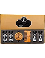 DUCKBUTTER Duck Butter Beard Oil Beardsman Pack - 4 Scents with Brush & Comb Gift Set