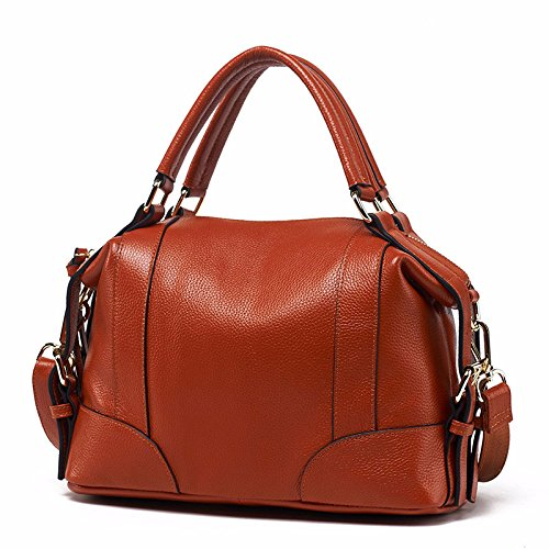 GUANGMING77 Hombro Bolso Bolso Bolso De brown Marrón qq6SAw8