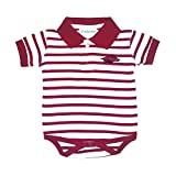 Two Feet Ahead Arkansas Razorbacks NCAA College Newborn Infant Baby Striped Polo Creeper (0-3 Months)