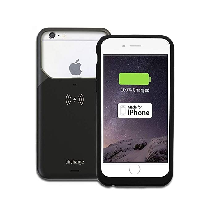 best website 6f51f 8e87c Aircharge Wireless Charging Case for Apple iPhone 6 Plus/6S Plus - Black