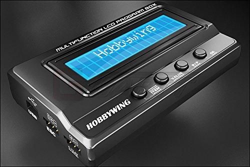 GARTT Hobbywing Multifunction LCD Programer Box Integrated w/USB Adaptor Voltmeter ()