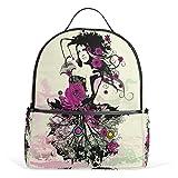 h12 cooler - Top Carpenter Gothic Girl School Backpack Daypack Rucksack Shoulder Bag for Student 12.6x5x14.8in