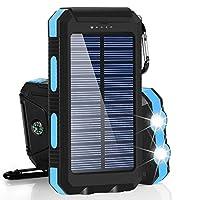 Solar Chargers 30,000mAh, Dualpow Portab...