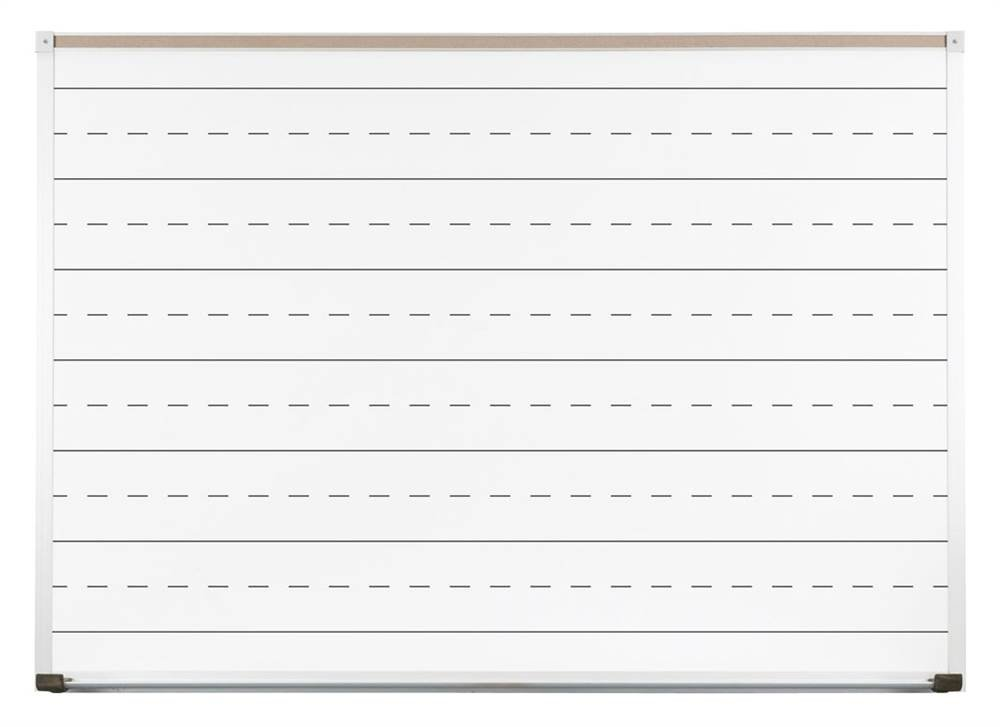 Porcelain Steel Penmanship Line Board (6 ft. W)