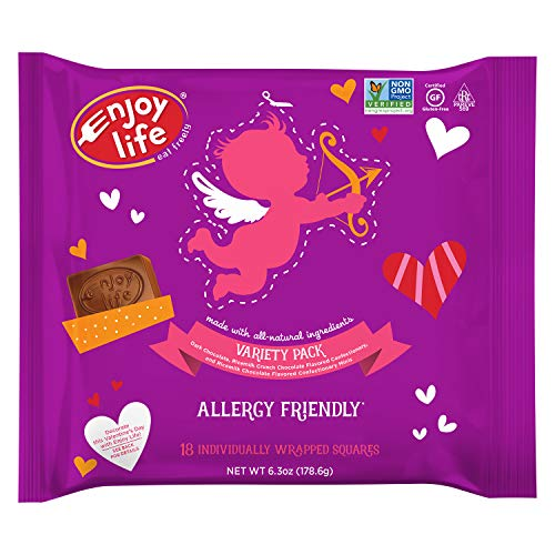- Enjoy Life Chocolate Valentine's Candy Minis Variety Pack, 4 Count