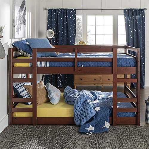 WE Furniture AZWJRTOTES Bunk Bed, Espresso