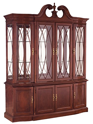 American China Cabinet Modern (Breakfront China Cabinet 50810)