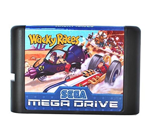 MD Game Wacky Races 16 bit MD Game Card For Sega Mega Drive For Genesis ()