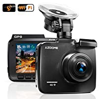 AZDOME UHD 2160P Dash Cam, GPS WiFi Dashboard Car Camera DVR Recorder with G Sensor, WDR,170° Wide Angle, Night Vision, Loop Recording, Parking Monitor, Support 64GB Max