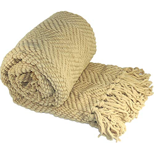 Home Soft Things Knitted Tweed Throw Blanket, 60