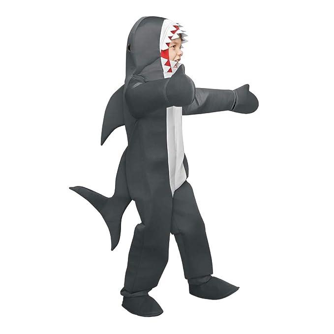 Amazon.com: Disfraz de tiburón blanco para niños de ChASING ...