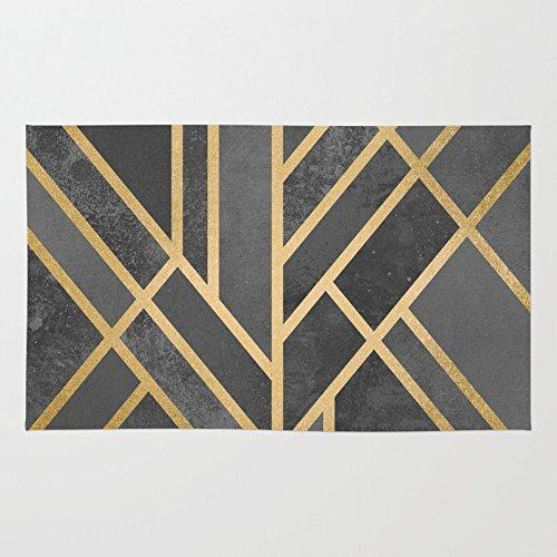 Society6 Art Deco Geometry 1 Rug 2' x 3'