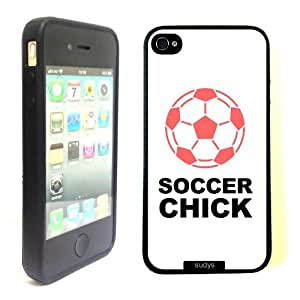 SudysAccessories Soccer Chick Thinshell Case Protective iPhone 4 Case iPhone 4S Case
