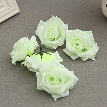 Venus valink Flor Artificiales Espuma Rosa, 50 Piezas Falso Rosa ...
