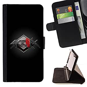 For Samsung Galaxy S4 Mini i9190 (NOT S4) Case , Banda de Música Electrónica- la tarjeta de Crédito Slots PU Funda de cuero Monedero caso cubierta de piel