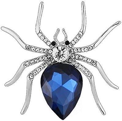 Qinlee Broche Araign/ée Crystal Femme 形状 Bijoux Rouge /épinglette Animal /él/égantes Lady Pin Filles pour V/êtement Accessoires Fibule Broche de Alliage Pendentif