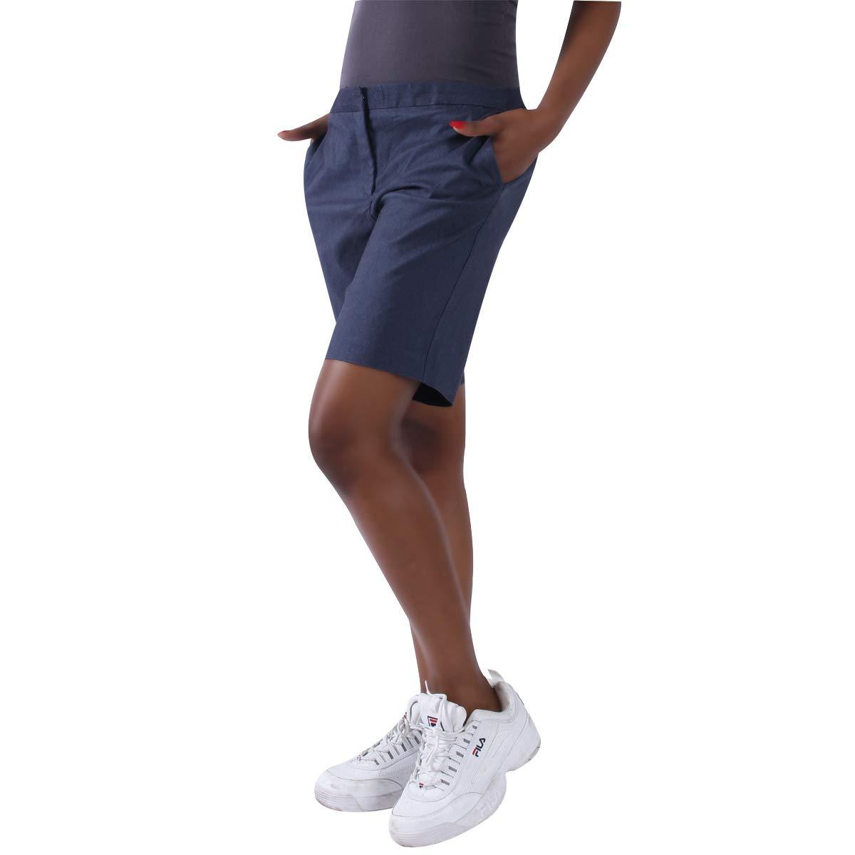KELLY KLARK Women's 9'' Chino Shorts, Stretch Casual Elegant Golf Bermuda Shorts  by KELLY KLARK