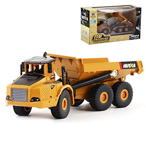 Lastnight Toy car 1:50 Alloy Simulation Articulated Dump Truck Engineering Vehicle Model for Kids Birthday Gift Dump Truck