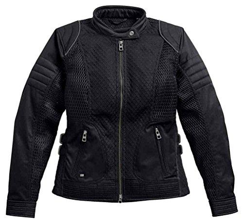 Harley-Davidson Women's Winged #1 Waterproof Mesh Jacket 97204-17VW (2XL) Black ()