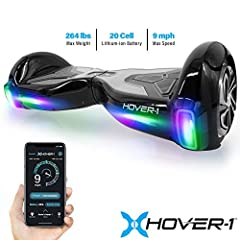 The original. The classic. This is where it all began: the Hover-1 H1 hover board. This set the standards for all hover boards to come. It's easy to see why. With app connectivity, a built-in Bluetooth speaker, and color-changing LED headligh...